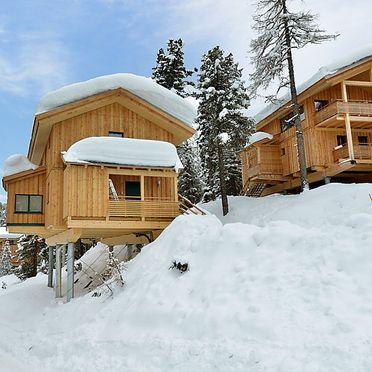 Außen Winter 21, Chalet Zirbe, Turracher Höhe, Steiermark, Steiermark, Österreich