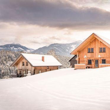 Außen Winter 24, Chalet Grimmingblick, Gröbming, Unterlengdorf, Steiermark, Österreich