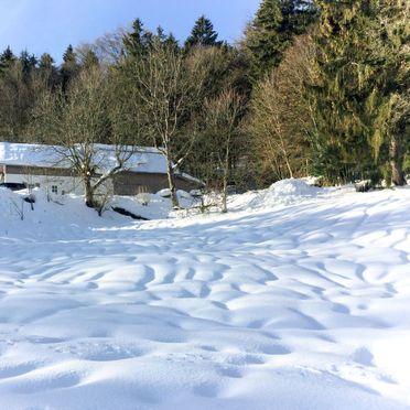 Außen Winter 27, Chalet Gulde, Lallinger Winkel, Bayerischer Wald, Bayern, Deutschland