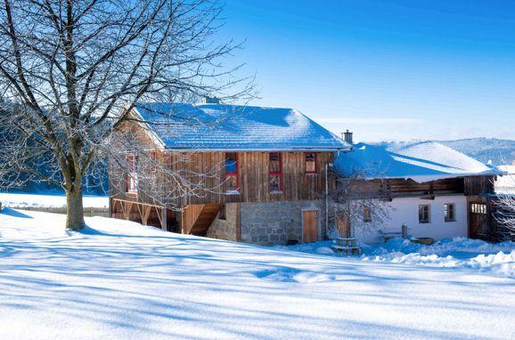 Außen Winter 15 - Hauptbild, Chalet Zitzelsberger, Bischofsmais, Bayerischer Wald, Bayern, Deutschland