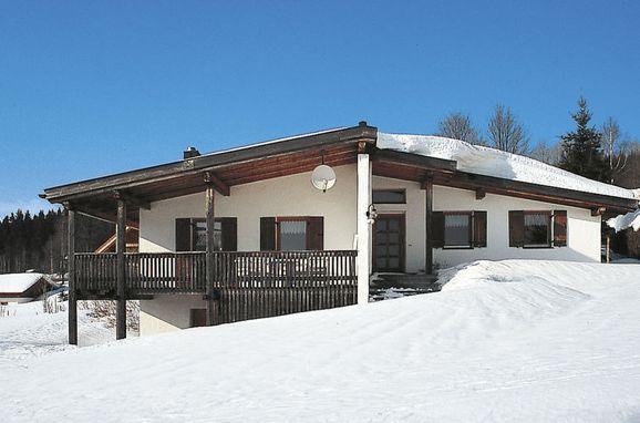 Außen Winter 16 - Hauptbild, Ferienchalet am Goldenen Steig, Mauth, Bayerischer Wald, Bayern, Deutschland