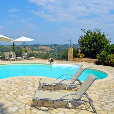 Außen Sommer 2, Casa la Vecchia Pieve, Castelfiorentino, Toskana Chianti, Toskana, Italien