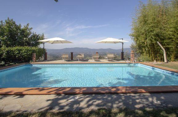 Außen Sommer 1 - Hauptbild, Appartamento Podere Berrettino, Reggello, Florenz und Umgebung, Toskana, Italien