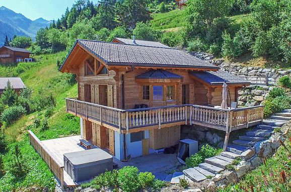 Außen Sommer 1 - Hauptbild, Chalet Chocolat in La Tzoumaz, La Tzoumaz, Wallis, Wallis, Schweiz