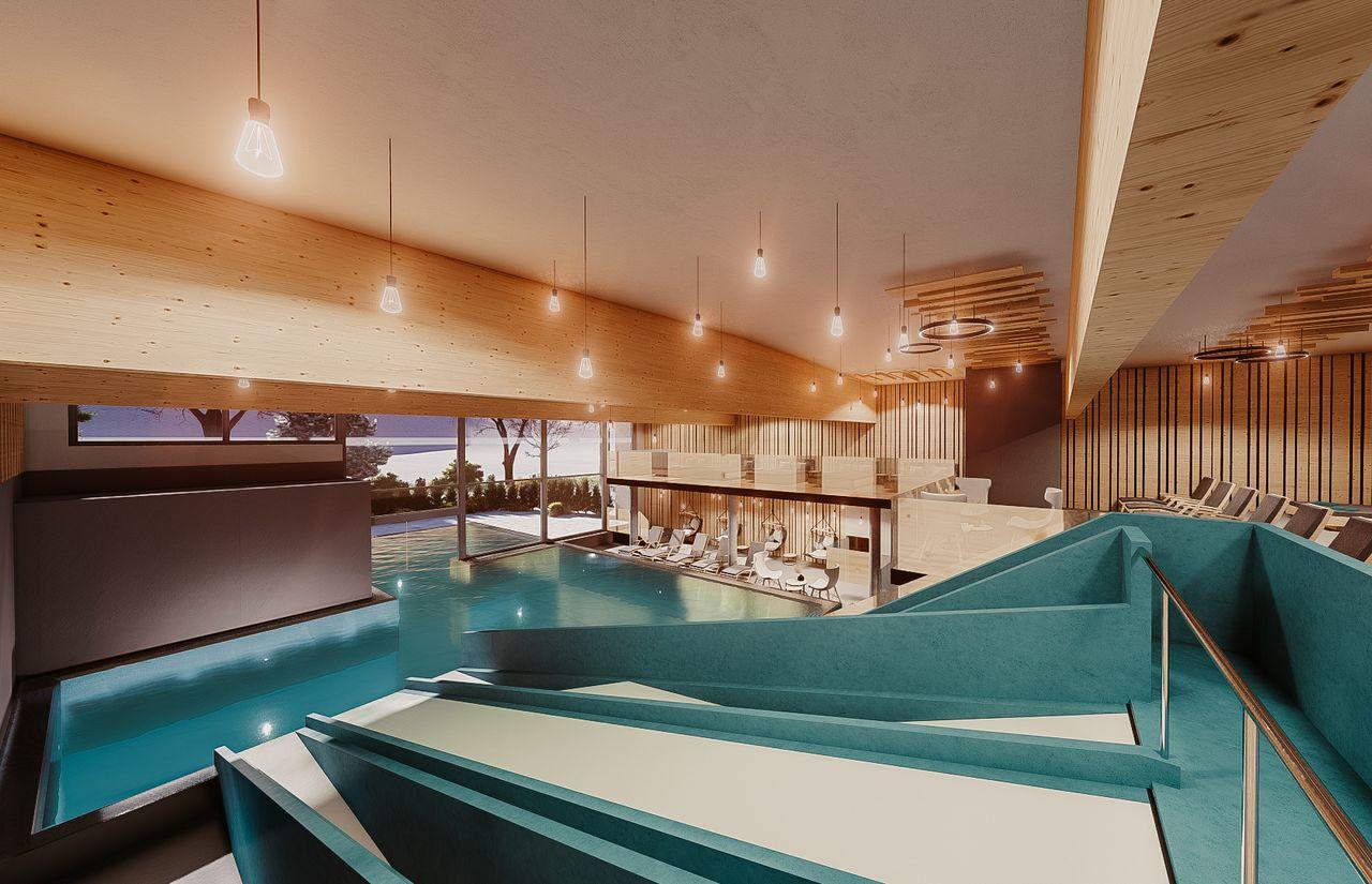 Rutsche Indoor Pool
