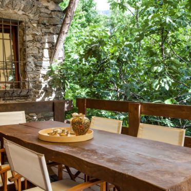 Außen Sommer 3, Rustico al Fopp, Valtellina, Lombardei, Lombardei, Italien