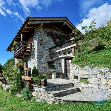 Außen Sommer 2, Rustico Vigna, Valtellina, Lombardei, Lombardei, Italien